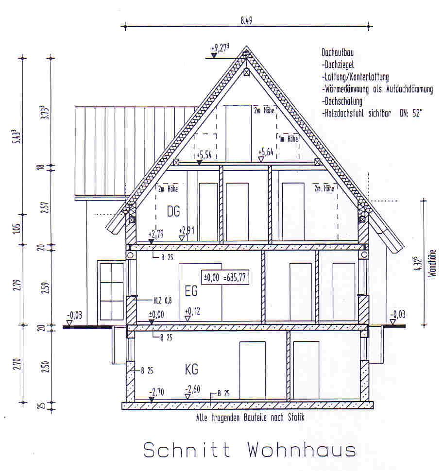 Gebäudeschnitt