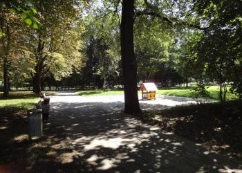 Park vor der Tür